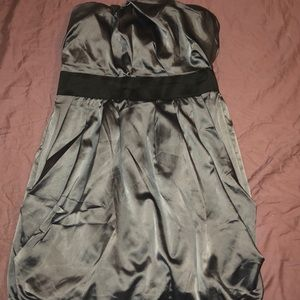 Dark gray silky dress